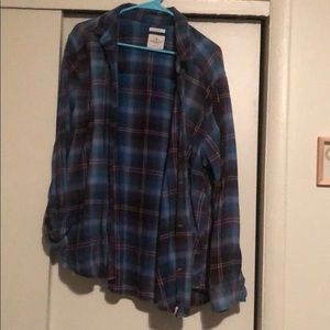 AE oversized destroyed flannel